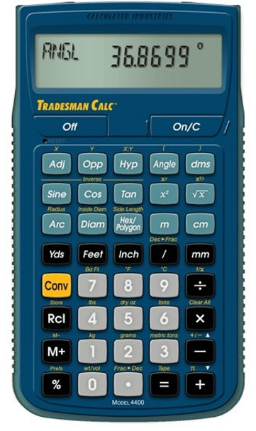 Front face of Calculated Industries Tradesman Calc