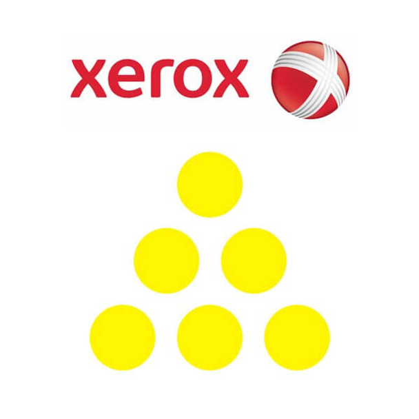 Xerox 6R1340 yellow replacement laserjet toner cartridge for the Hewlett Packard 502A (Q6472A)
