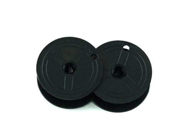 Back view of GRC E201 black TWO-SPOOL UNIVERSAL PRINTING CALCULATOR RIBBONS (C-WIND)