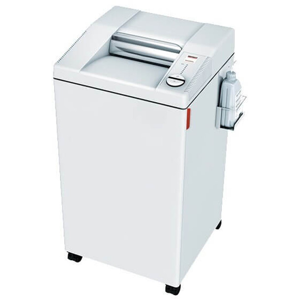 Front view of MBM Destroyit 2604 Super Micro Cut Shredder