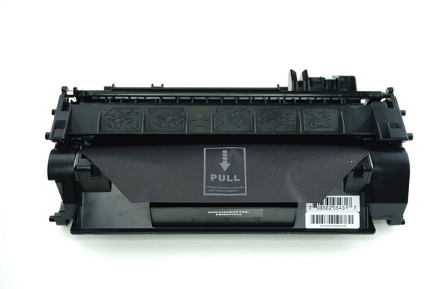 This is the front view of the HP 05A replacement laserjet toner cartridge by NXT Premium toner