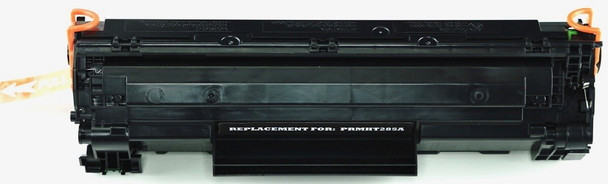 This is the front view of the HP 85A replacement laserjet toner cartridge by NXT Premium toner