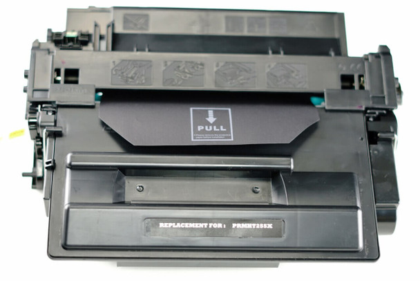 This is the front view of the HP 55X replacement laserjet toner cartridge by NXT Premium toner