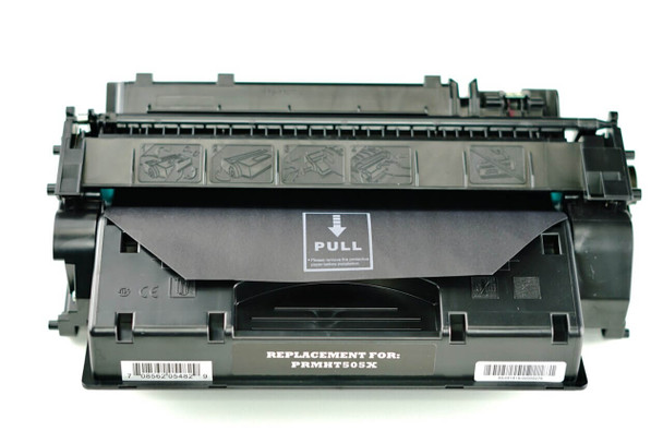 This is the front view of the HP 05X replacement laserjet toner cartridge by NXT Premium toner