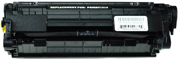 This is the front view of the HP 12A replacement laserjet toner cartridge by NXT Premium toner