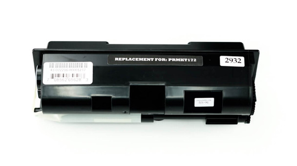 This is the front view of the Kyocera-Mita TK 172 black replacement laserjet toner cartridge by NXT Premium toner