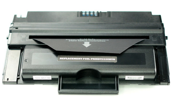 This is the front view of the Dell HX756 replacement laserjet toner cartridge by NXT Premium toner