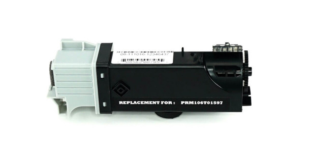 This is the front view of the Xerox 106R01597 black replacement laserjet toner cartridge by NXT Premium toner