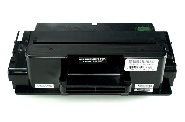 This is the front view of the Dell C7D6F black replacement laserjet toner cartridge by NXT Premium toner