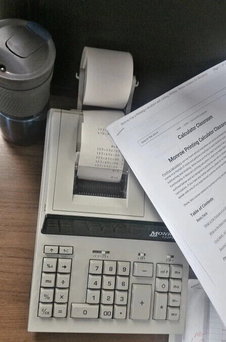 How to Use a Printing Calculator and Adding Machine | Monroe Systems