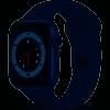 Watch Series 6 Blue Aluminium Case with Deep Navy Sport Band - Regular