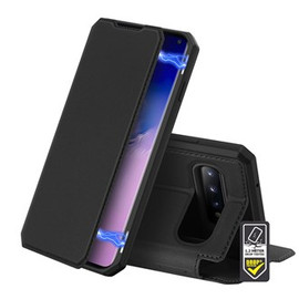 Skin X Black Wallet case for Galaxy S10