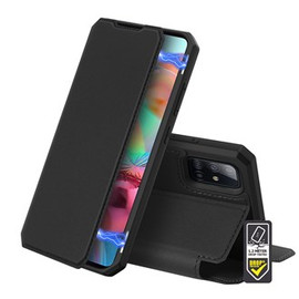 Skin X Black Wallet case for Galaxy A71