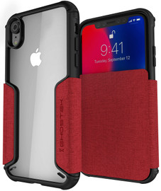 EXEC3 Leather Flip Card Holder Wallet Cover For iPhone Xr