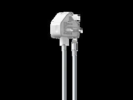 2.1A USB Plug & 1m MFI Lightning Cable - White