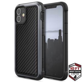 Raptic Lux Case for iPhone 12 Mini Black Carbon Fibre