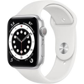 Watch Series 6 Silver Aluminium Case with White Sport Band - Regular
