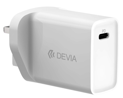 18W Type C Power Delivery 3-Pin UK Charging Plug