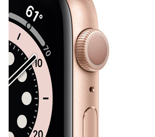 Watch Series 6 Gold Aluminium Case with Pink Sand Sport Band - Regular