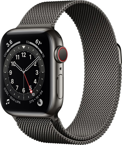 Watch Series 6, GPS + Cellular, Graphite Stainless Steel Case with Graphite Milanese Loop