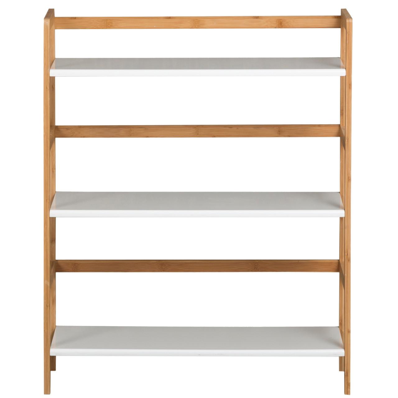 3 Tier Stackable Bookshelf White Casual Contemporary Living
