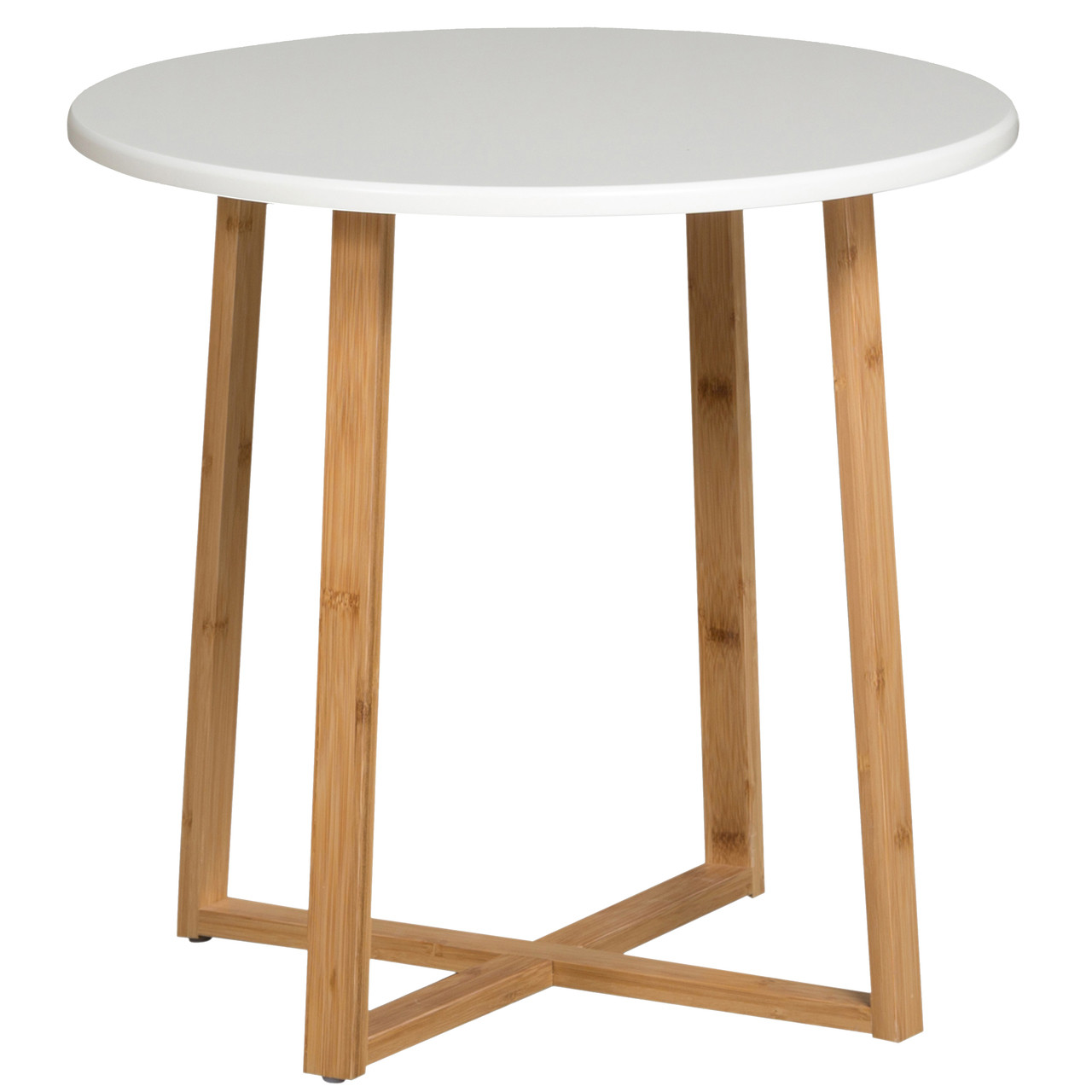 Large Round Table White Casual Contemporary Living