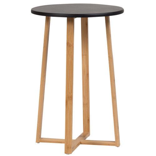 Small Round Table Black Casual Contemporary Living