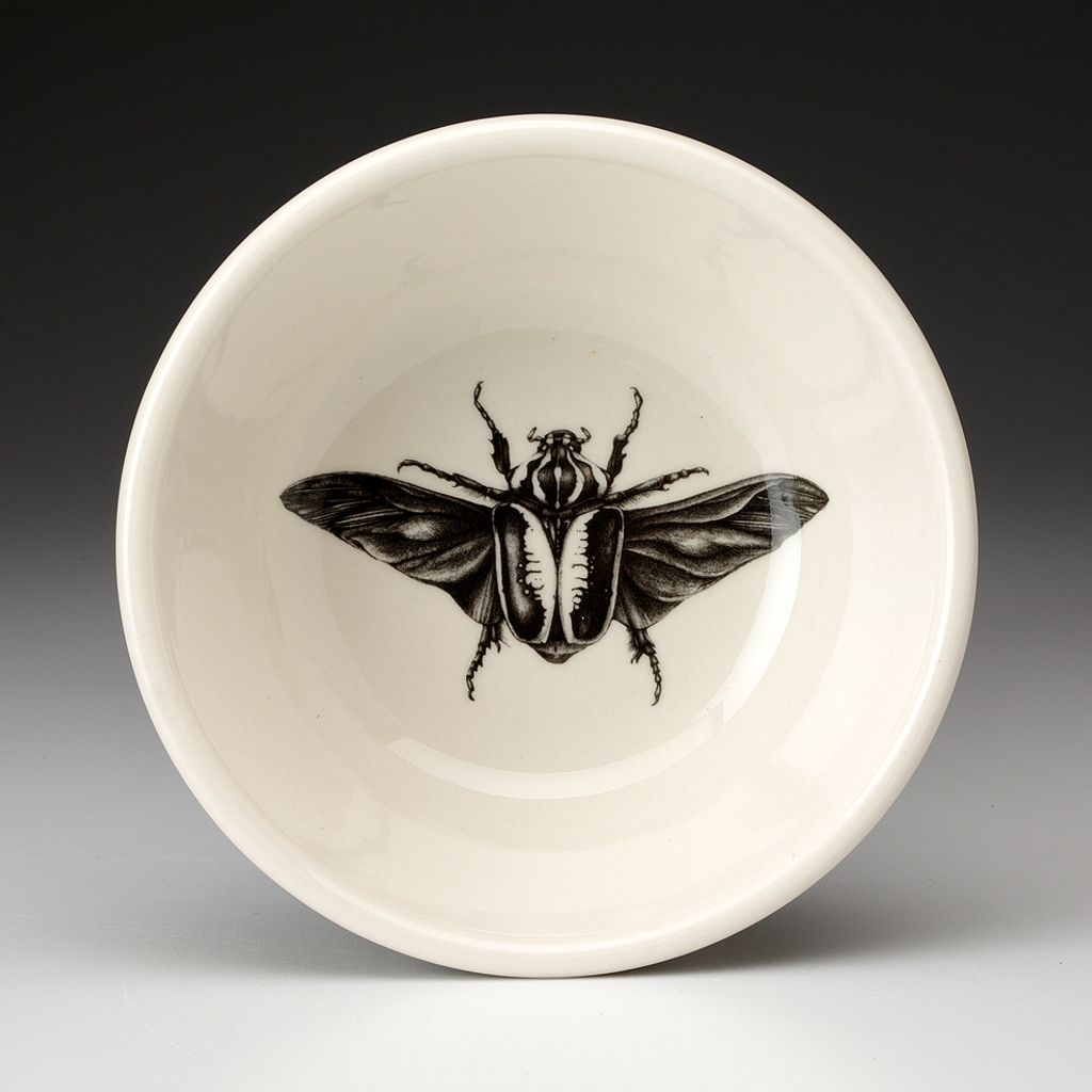 Cereal Bowl: Open Wing Goliath Beetle