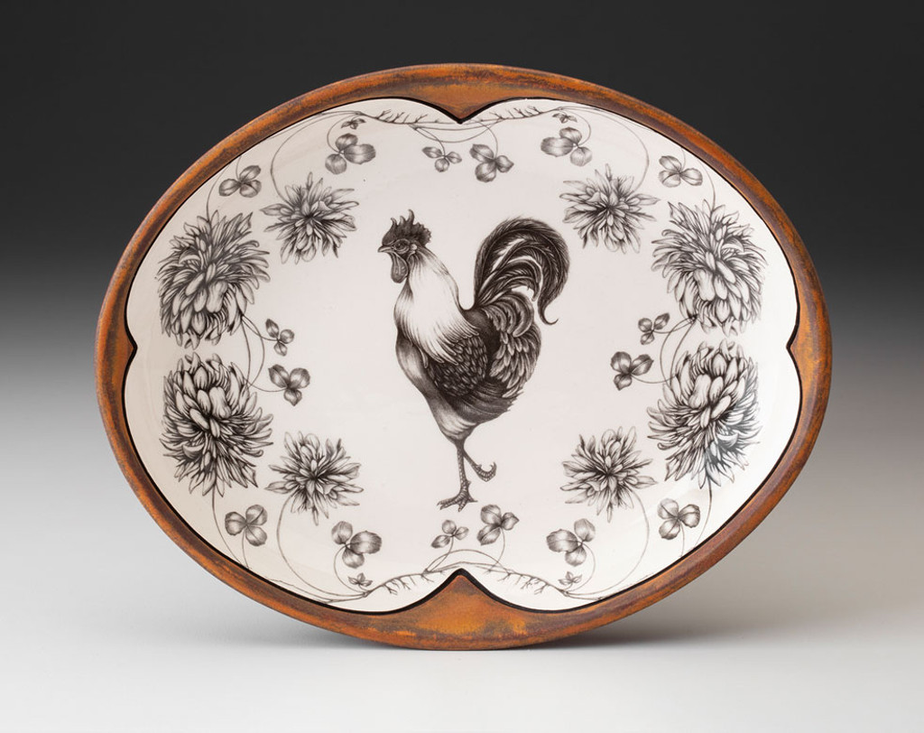 Small Serving Dish: Rooster