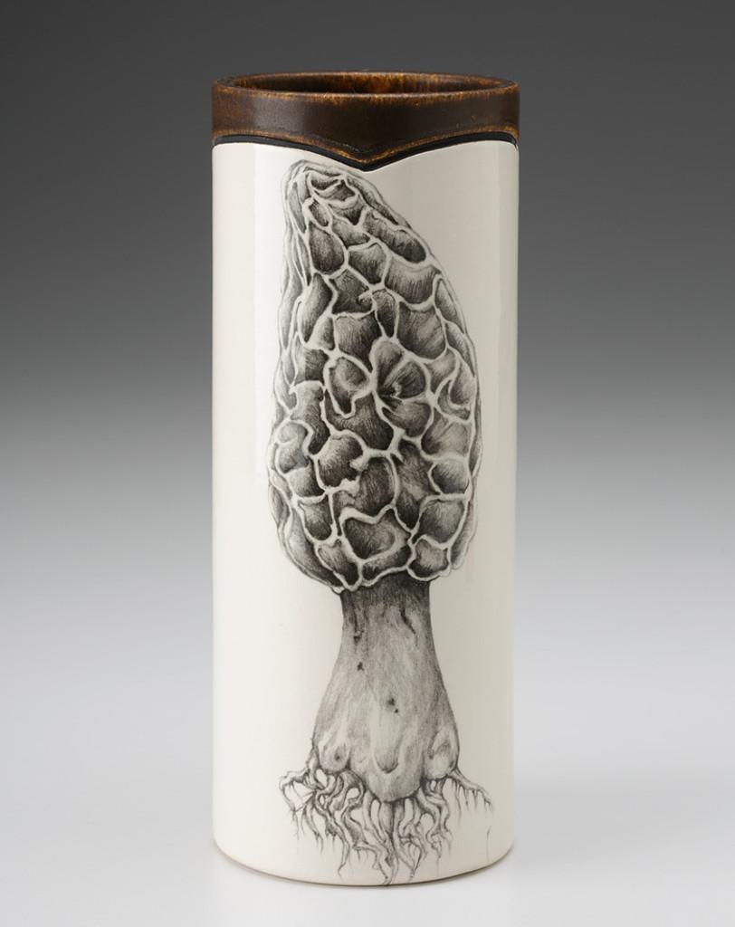 Small Vase: Morel Mushroom