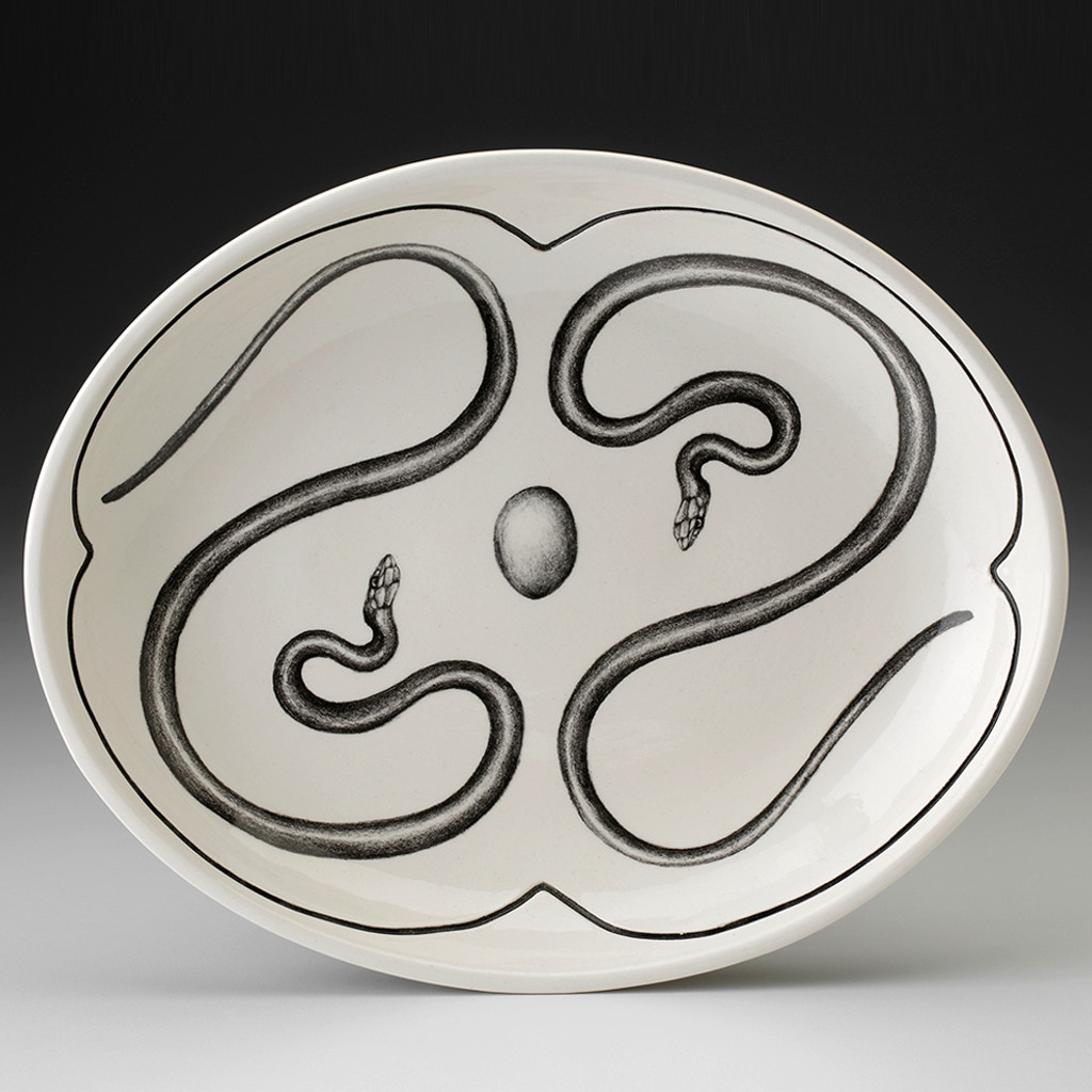 Small Serving Dish: Rough Snake
