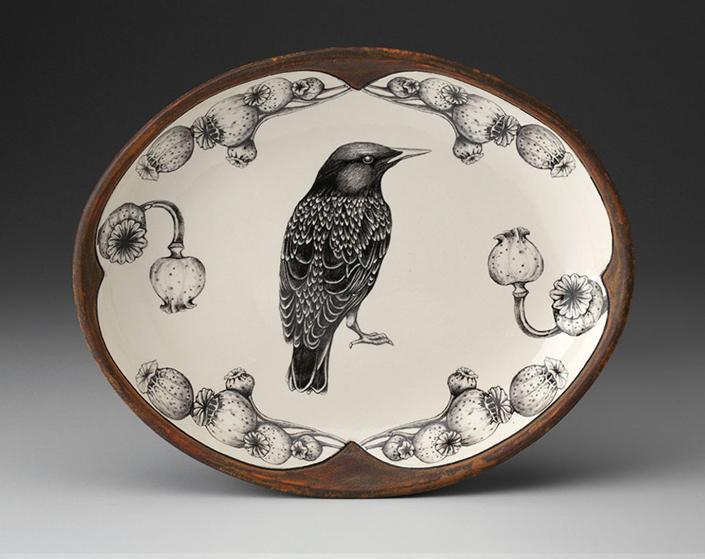 Small Serving Dish: Starling