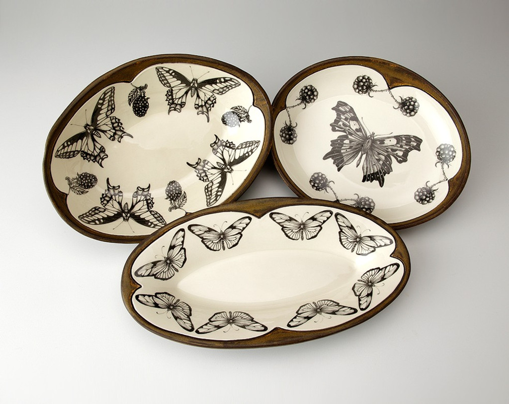 Small Serving Dish: Anglewing Butterfly