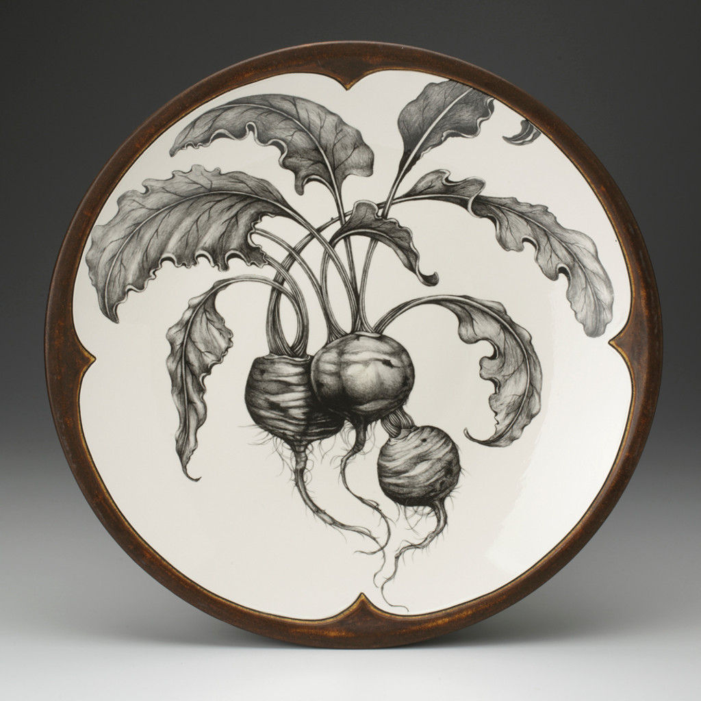 Large Round Platter: Beets