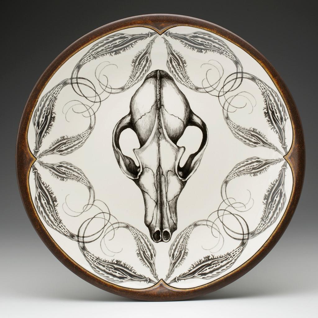 Large Round Platter: Fox Skull
