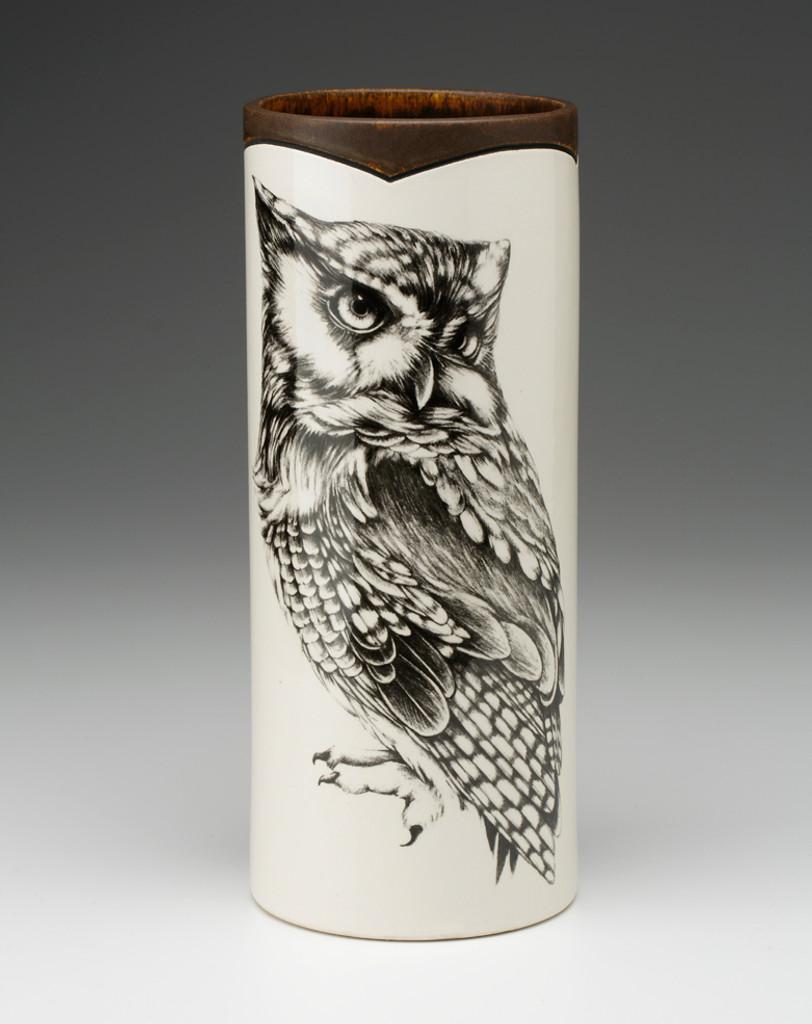 Large Vase: Screech Owl