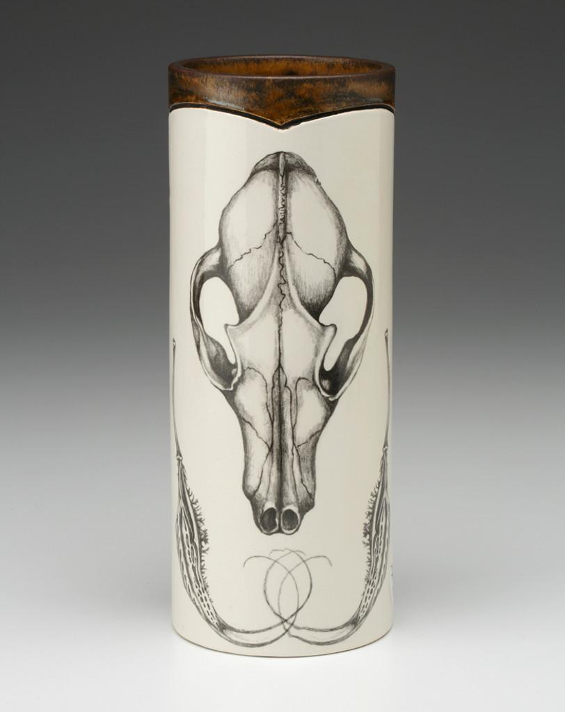 Small handmade ceramic Vase- Laura Zindel Designs - Fox Skull