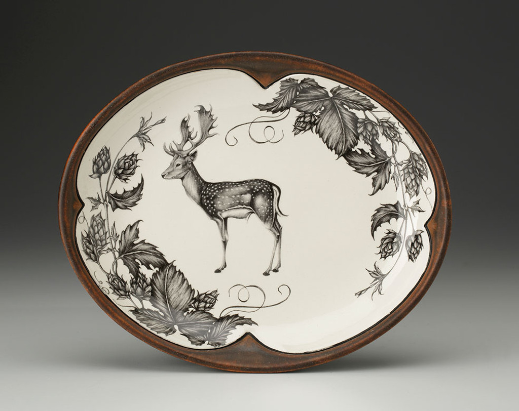 Small Serving Dish: Fallow Buck and Hops