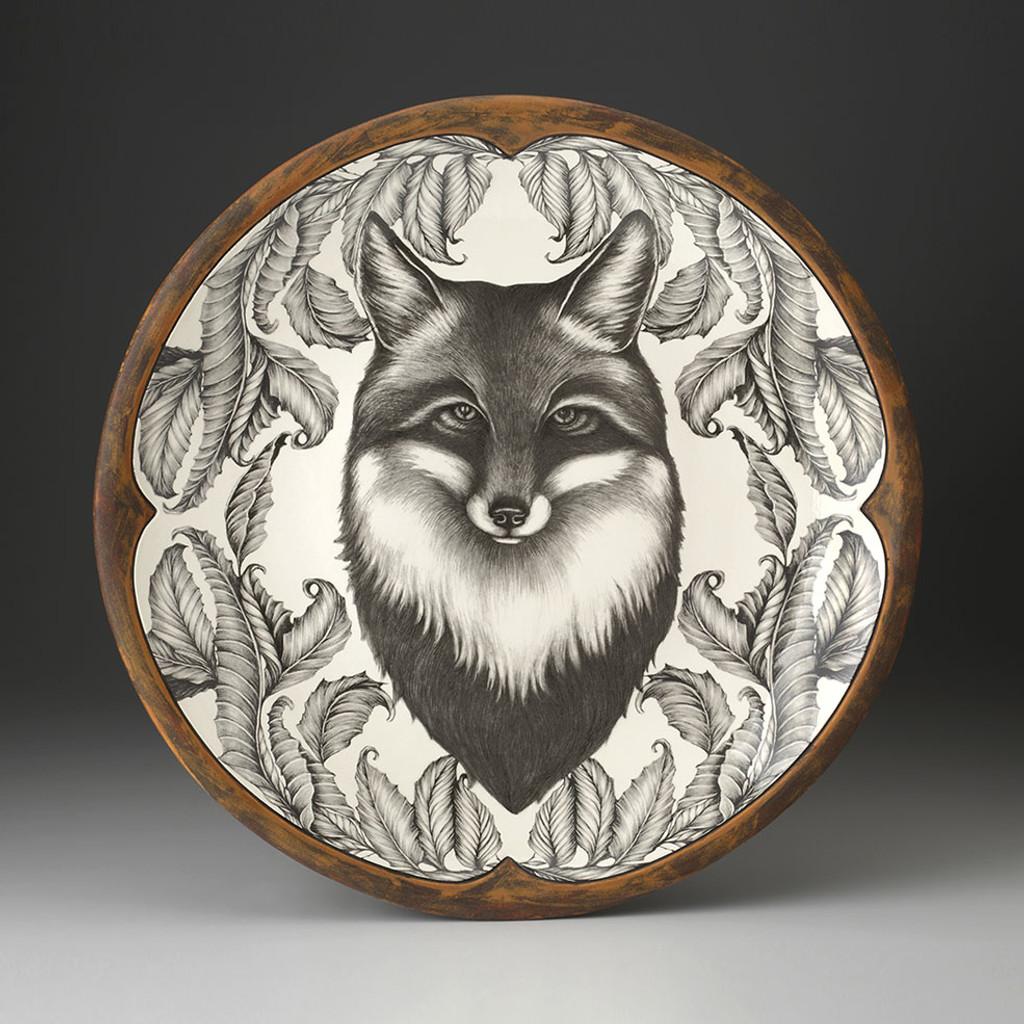 Large Round Platter: Fox Portrait