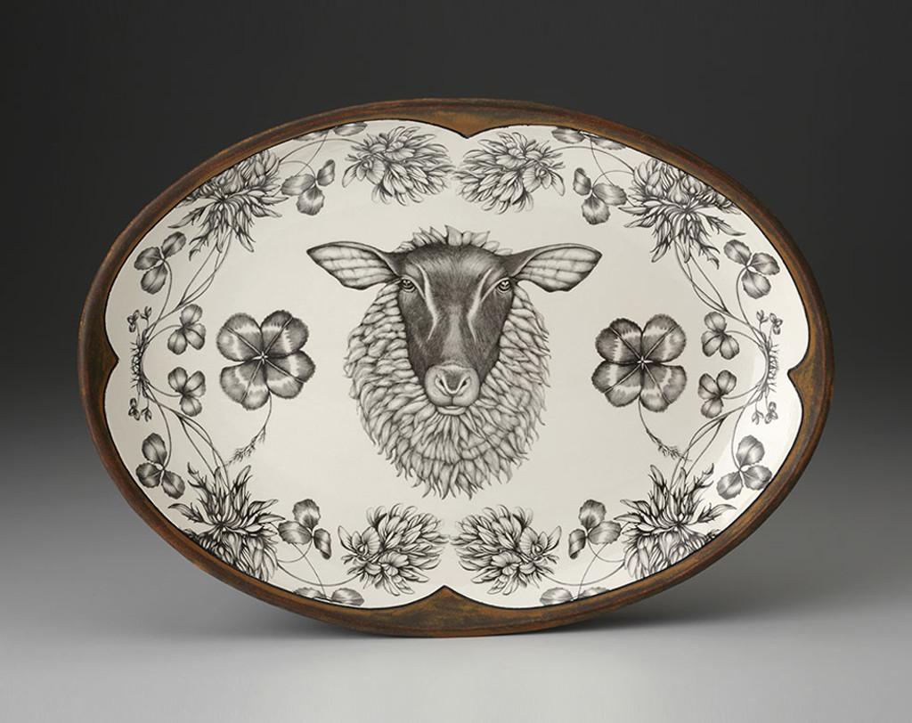 Oval Platter: Suffolk Sheep