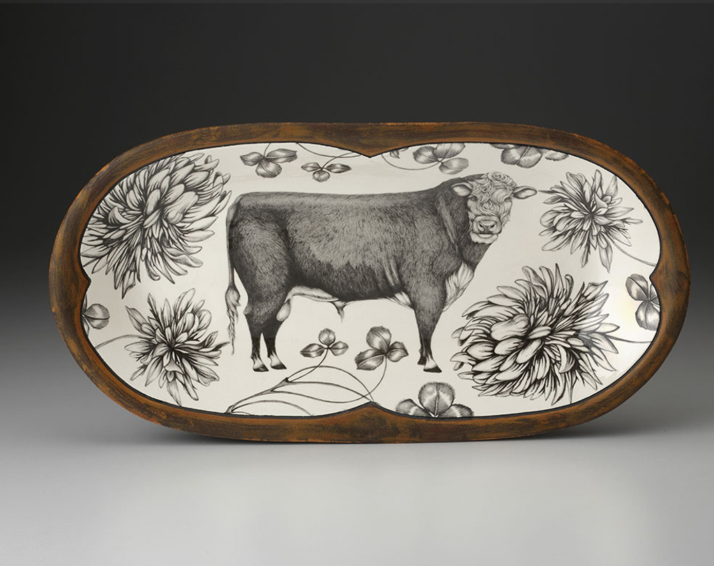 Rectangular Serving Dish: Hereford Bull