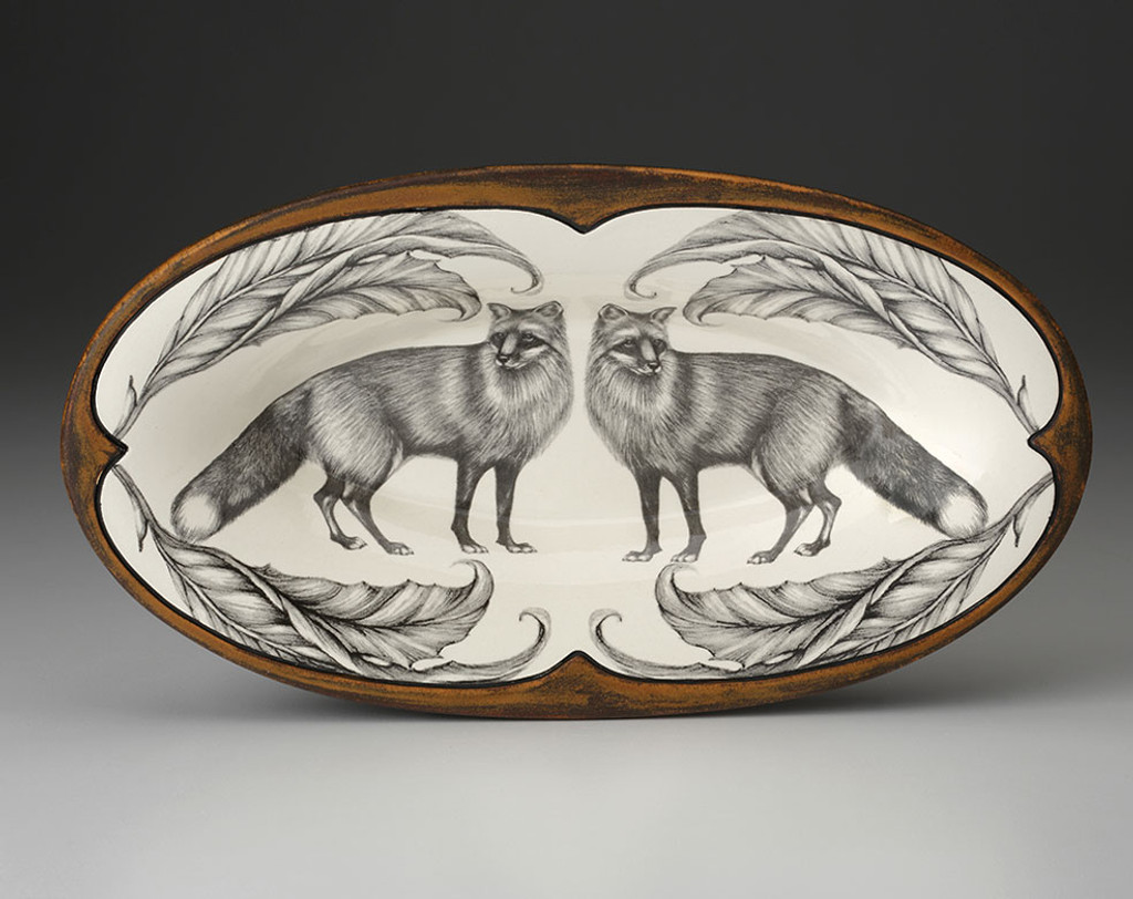 Oblong Serving Dish: Red Fox