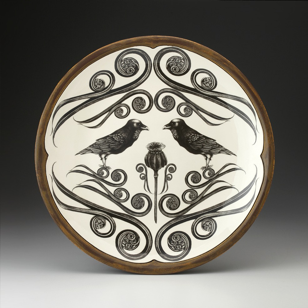 Large Round Platter: Raven