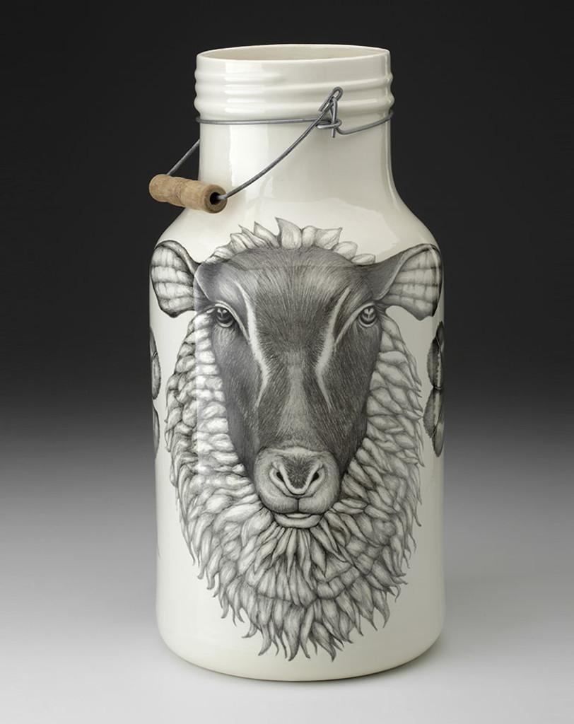 Jug with Handle: Suffolk Sheep