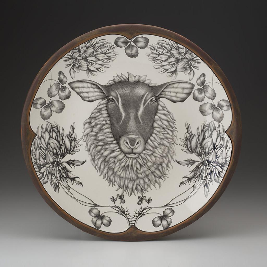Large Round Platter: Suffolk Sheep