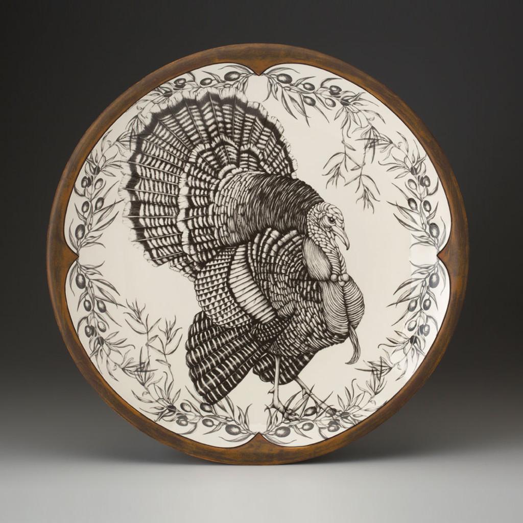 Large Round Platter: Turkey