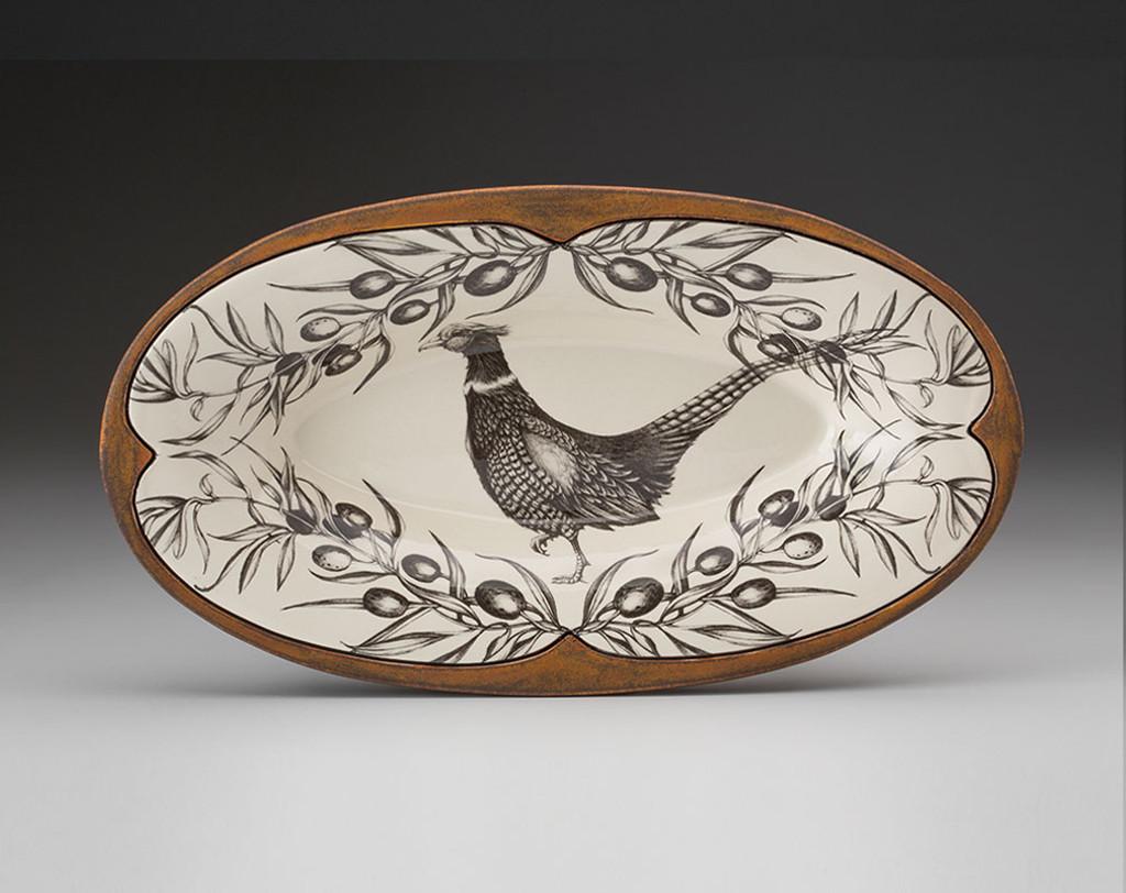 Oblong Serving Dish: Pheasant
