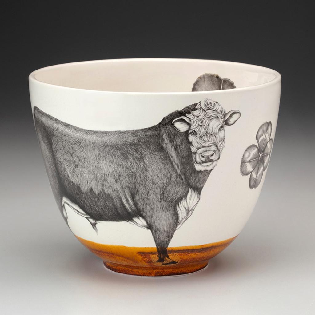 Medium Bowl: Hereford Bull