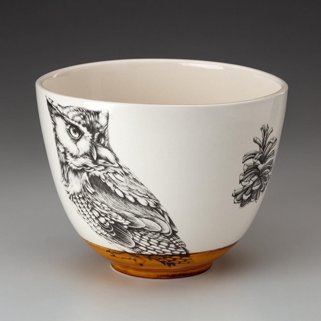 Medium Bowl: Screech Owl #1