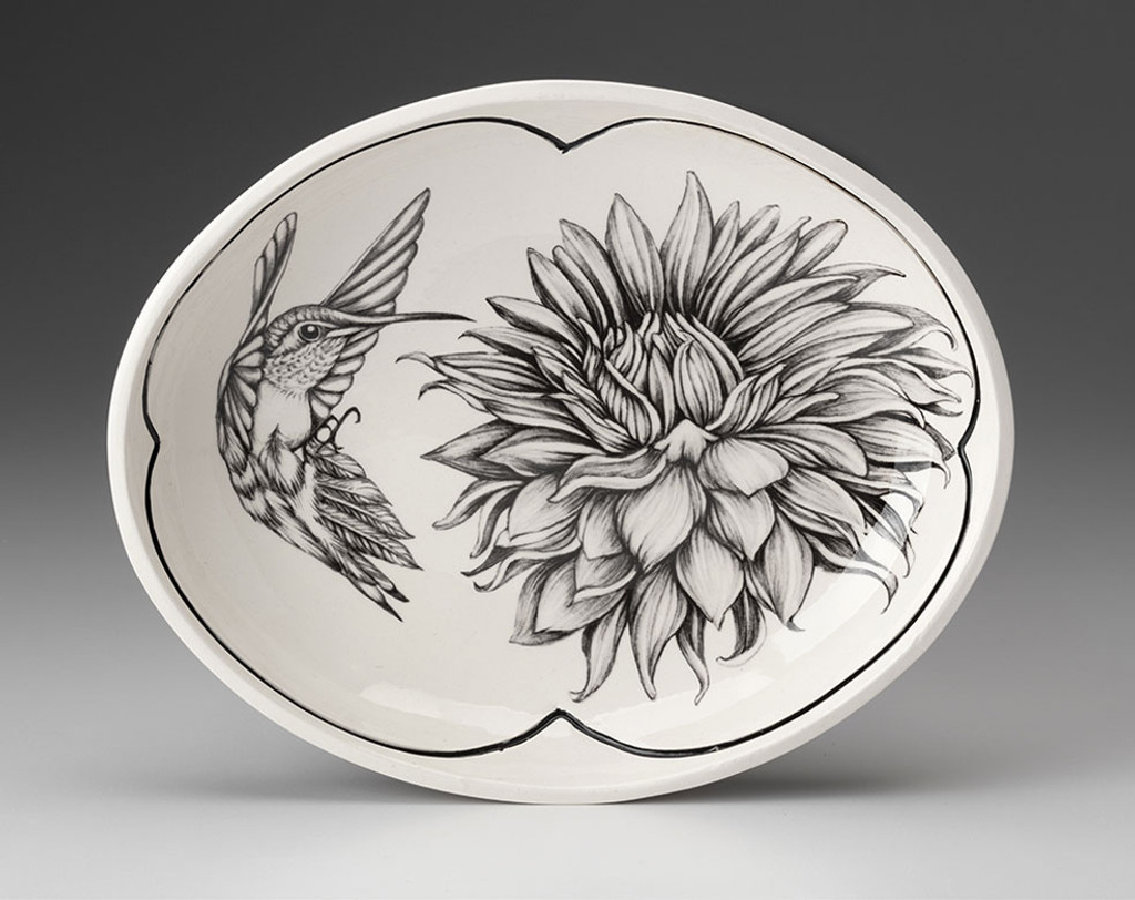 Small Serving Dish: Hummingbird #3